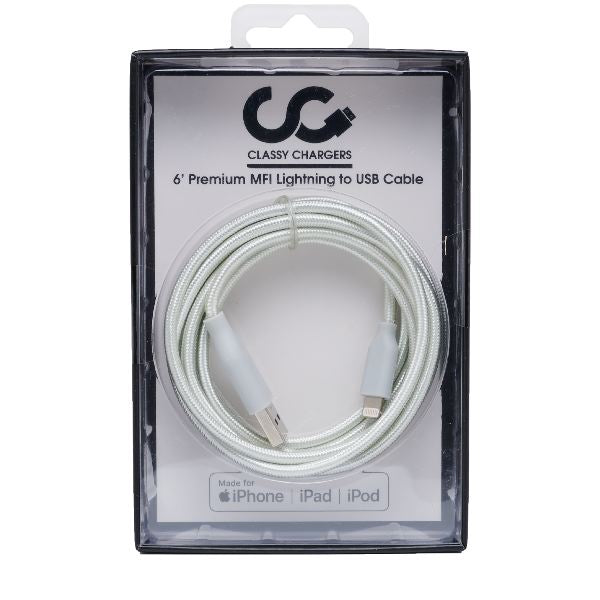 Silver Apple Certified Lightning Cable - Classy Chargers