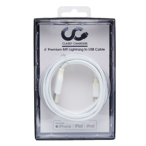 White MFI Apple Certified Cable - Classy Chargers