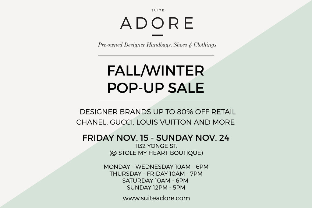 Suite Adore's Fall/Winter Pop-up Sale!
