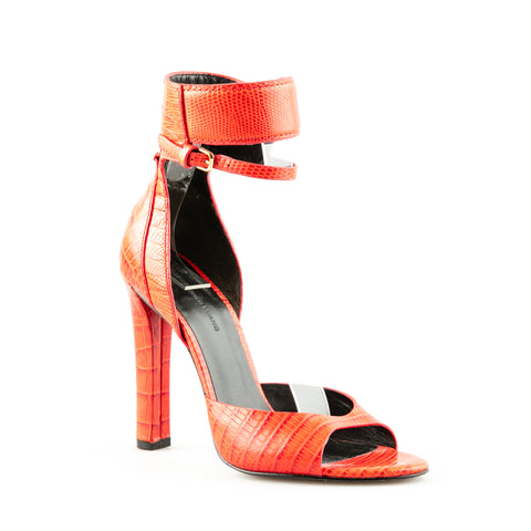 Alexander Wang Embossed Leather Stiletto Sandals