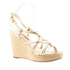 Prada Sport Metallic Woven Wedge Sandals
