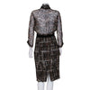 Giambattista Valli Silk and Tweed Printed Dress