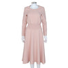 Maje NEW Pink Textured Fabric Long Sleeve Dress