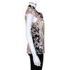 Gucci Floral Printed Cap Sleeve Silk Blouse with Tie