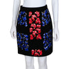 Peter Pilotto Wool Crepe Embellished Skirt