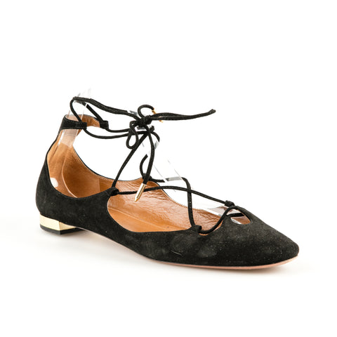 Aquazzura 'Dancer' Suede Flats