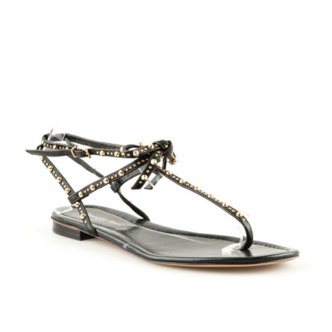 Gianvito Rossi Leather Studded Flat Sandals
