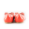 Salvatore Ferragamo Orange Patent Leather Ballerina Flats