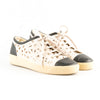 Chanel Leather Floral Cut Out Lace Up Low Top Sneakers