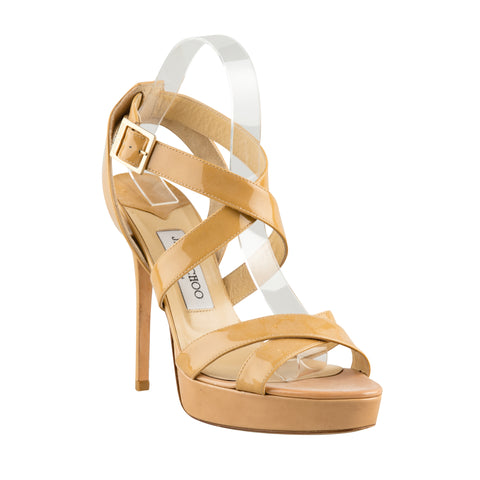 Jimmy Choo 'Vamp' Patent Leather Sandals