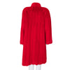 Valentino Red Mid Length Mink Fur Coat