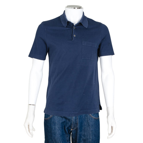 Hermès Blue Short Sleeve Polo Shirt