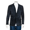 Brunello Cucinelli Navy Blue Suede Jacket