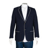 Gucci Navy Blue Blazer Jacket with Piping