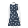 Kenzo Dots And Stripes Denim Jacquard Dress