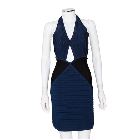 Balmain Halter Neck Sleeveless Body-con Dress