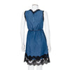 Dolce & Gabbana Denim Dress with Black Lace Detailing