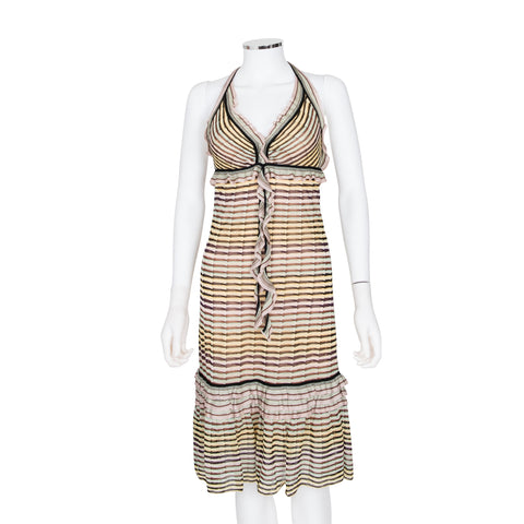 Missoni Striped Halter Neck Sleeveless Dress