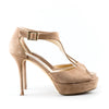 Jimmy Choo 'Tribe' Suede Platform Stiletto Sandals