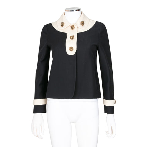 Gucci Wool Blend Jacket with Feline Charms