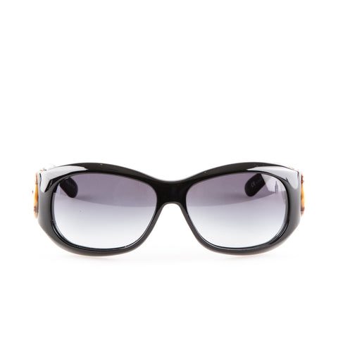 Gucci 'GG 2970/S' Square Framed Sunglasses with Bamboo Details