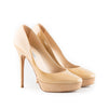 Jimmy Choo 'Cosmic Nude' Patent Leather Platform Pumps