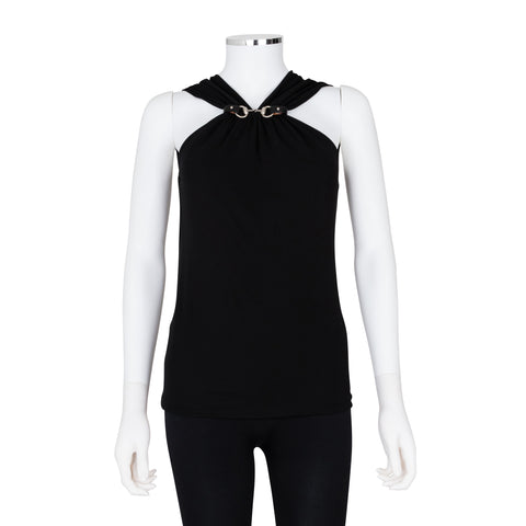 Gucci Sleeveless Top with Horse Bit and Leather Detail