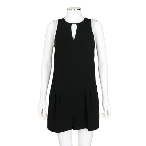 Rag & Bone Sleeveless Romper with Leather Detail