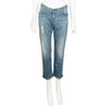 Stella McCartney Cropped Distressed Boyfriend Denim Jeans