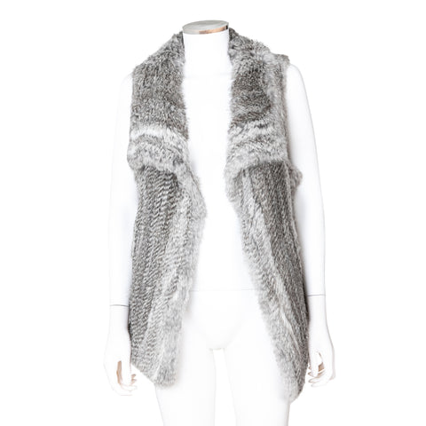 Calypso Rabbit Fur Sleeveless Vest
