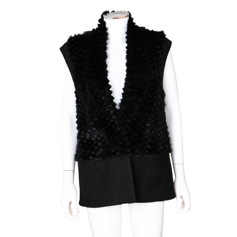 Helmut Lang Rabbit Fur Vest