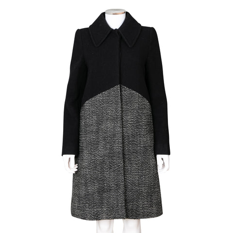 Stella McCartney Mix Media Wool Blend Coat