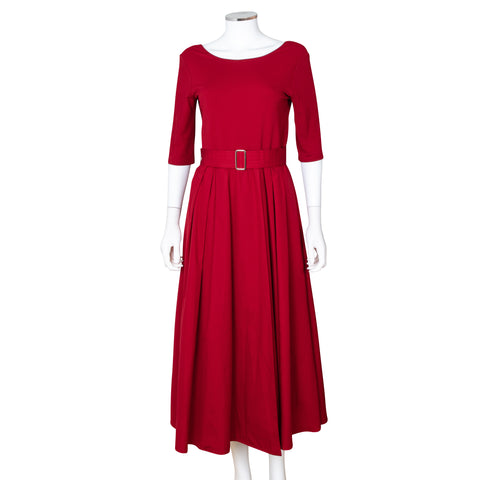 Max Mara 'Affine' Midi Dress with Waist Belt