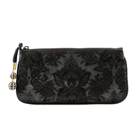 Gucci Floral Embroidered Leather Clutch