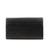 Gucci Black Leather Monogrammed Travel Wallet