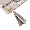 Gucci Pebbled Leather Flap Clutch with Bamboo and Tassel
