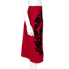 Dolce & Gabbana NEW Knee Length Skirt with Suede Floral Detail