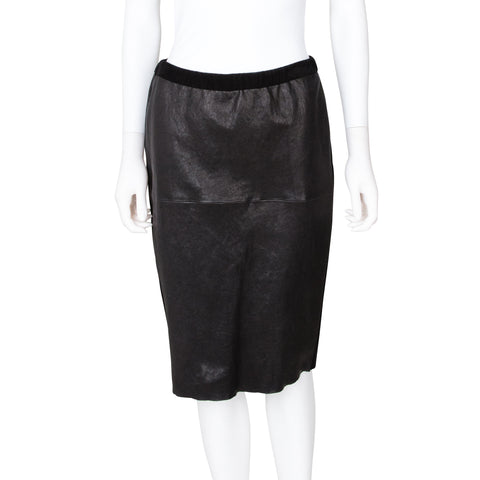 Isabel Marant Leather Knee Length Pencil Skirt