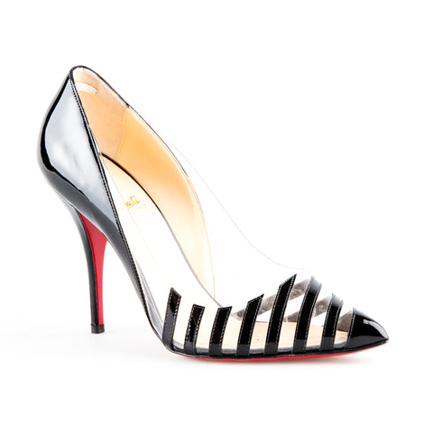 Christian Louboutin 'Pivichic' PVC Striped Patent Leather Pumps