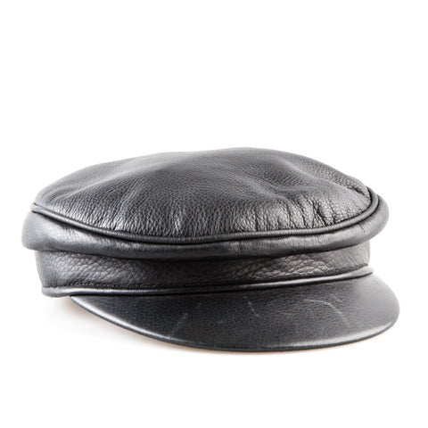 Hermès Leather Newsboy Hat