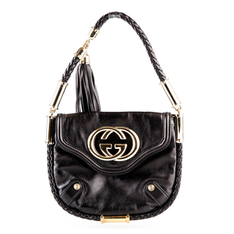 Gucci 'Britt Tassel' Leather Shoulder Bag