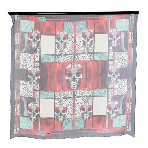 Alexander McQueen Skull and Square Silk Scarf