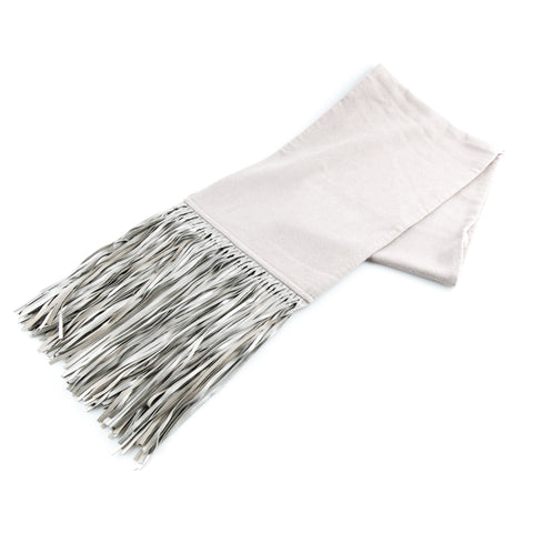 Hermès Cashmere with Leather Fringe Scarf