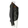 Smythe Linen Blazer Jacket with Suede Accent