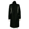 Helmut Lang Wool Coat with Fur and Leather Trim