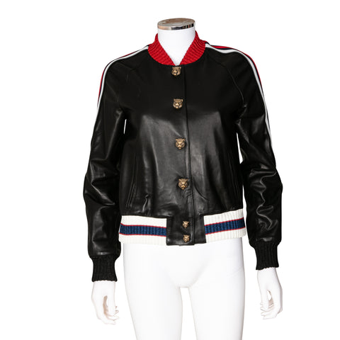 Gucci 'Hollywood' Leather Bomber Jacket