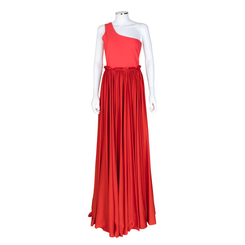Lanvin Sleeveless One Shoulder Floor Length Gown
