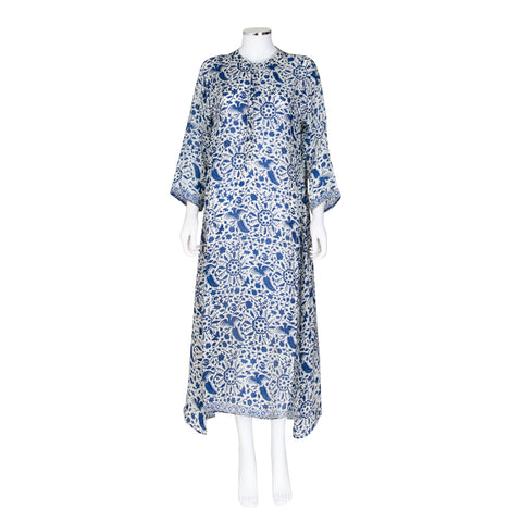 Natalie Martin Floral and Bird Print Midi Dress