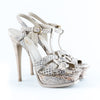 Yves Saint Laurent Snakeskin 'Tribute' Platform Sandals