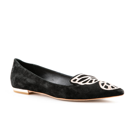 Sophia Webster 'Bibi Butterfly' Suede Flats with Embroidery